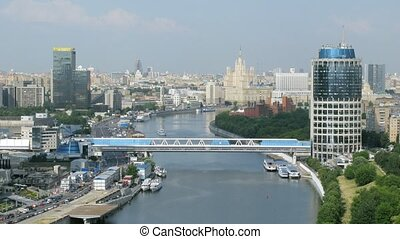 View on city from an eminence in Moscow, Russia.
