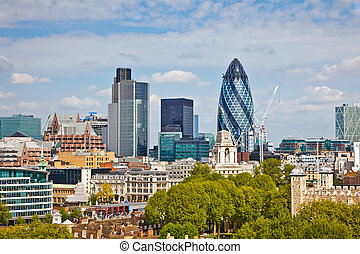 View on city of London