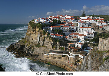view on city on rocks in Portugal