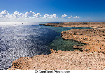 View on coast in national park Ras Mohammed in Sinai, Egypt.
