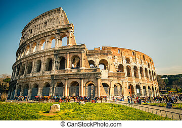 Coliseum in Rome - View on Coliseum in Rome, Italy