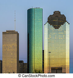 View on downtown Houston in late afternoon