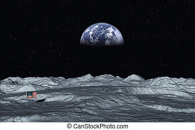 View On Earth - This image shows a view from moon to earth...