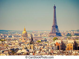 Eiffel Tower - View on Eiffel Tower, Paris, France