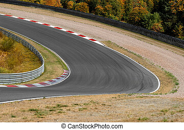 View on empty race track circuit