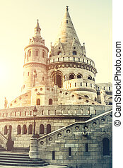 view on famous Fishermen Bastion in Budapest