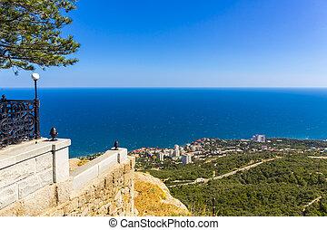 View on Foros town coastal landscape, Crimea, Russia