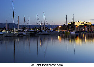 View on Fort Carre in Antibes in France - View on Fort Carre...
