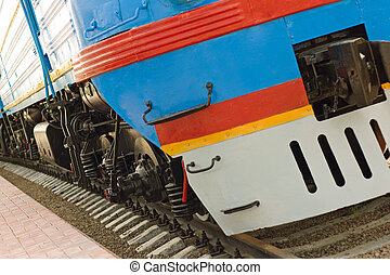 locomotive - view on front of locomotive