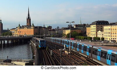 View on Gamla Stan in Stockholm. Old city. Sweden.