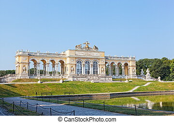 View on Gloriette structure in Schonbrunn Palace, Vienna,...