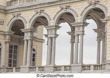 View on Gloriette structure in Schonbrunn Palace, Vienna, Austria