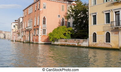 View on Grand Canal Venice buildings - View of the Grand...