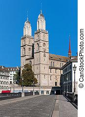 View on Grossmuenster in Zurich