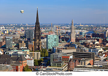 View on Hamburg from Michel
