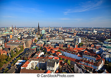View on Hamburg from Michel, Germany, 2009