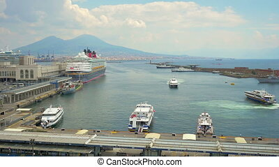 View on harbor of Naples, Italy