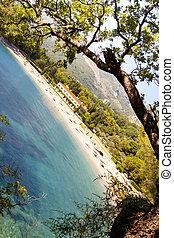 View on Hotel in Sveti Stefan - Montenegro.