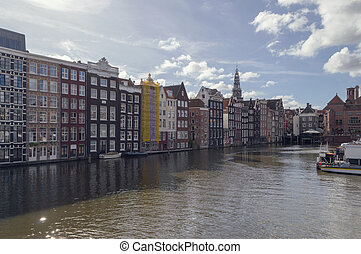 view on houses and canal