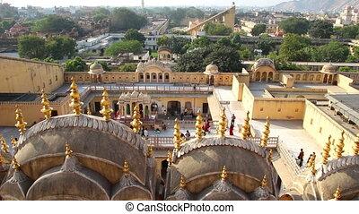 view on Jaipur from Hawa Mahal palace - India