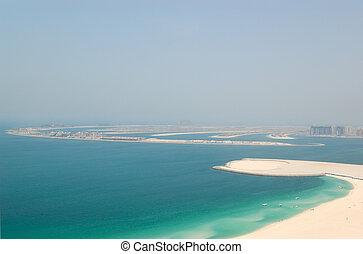 View on Jumeirah Palm artificial island, Dubai, UAE