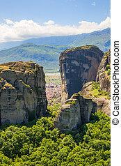 Kalambaka trough Meteora rocks - view on Kalambaka trough ...