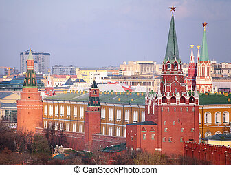 View on Kremlin from top