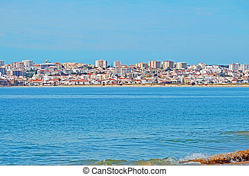 View on Lagos in the Algarve Portugal