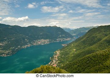 View on lake Como from the lighthouse