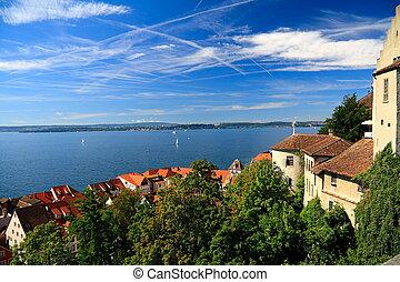 View on Lake Constance. Meersburg.