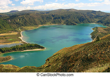 view on lake Lagoa do Fogo
