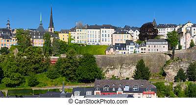 Luxembourg in a sunny summer day