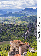 View on Meteora monastery in Greece