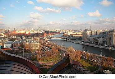 View on Moscow and river from top