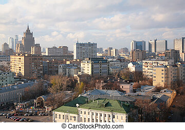 View on Moscow from top
