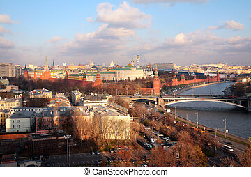 View on Moscow-river and Kremlin