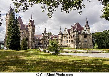 View on Moszna Castle - Poland, Europe.
