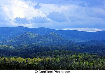 View on mountain range