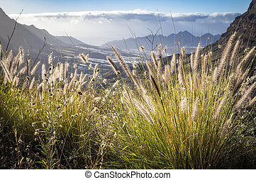 View on mountains of Gran Canaria island, Spain