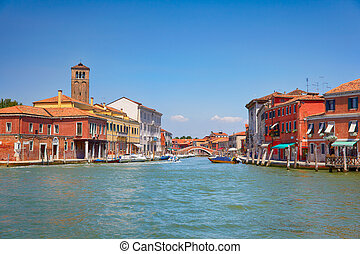 View on Murano canals, Italy - View on Murano canals,...