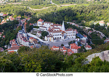 view on national museum palace sintra