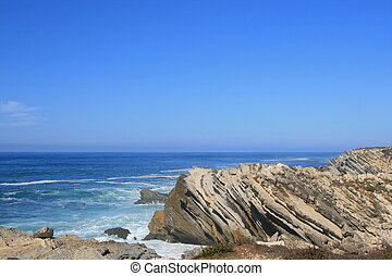 View on ocean and rocks