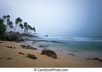 view on ocean during rain in sri lanka