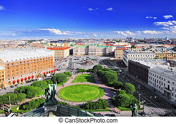 View on of St. Petersburg city from the colonnade of St. ...