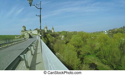 View on old castle - View from observation deck of Old...