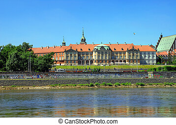 Royal Castle - View on Old Town with Royal Castle over the...