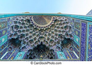 Ornaments of mosque in Iran