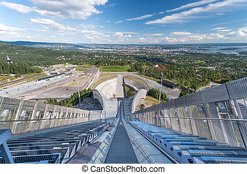view on oslo from ski jump