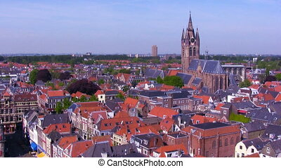 View on Oude Kerk, Delft