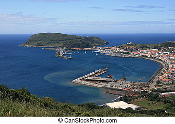 view on port in Azores